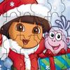 Dóra karácsonyi kirakó - Dóra a felfedező ingyen játékok gyerekeknek
