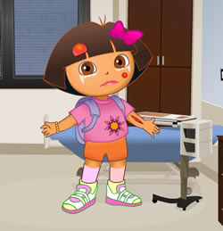 Dóra a doktornál - Dóra a felfedező ingyen játékok gyerekeknek
