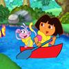 Dóra Raftingol kirakó - Dóra a felfedező ingyen játékok gyerekeknek